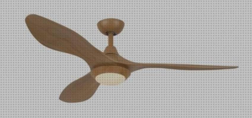 Ventilador de techo base negra aspa madera 132 cm 70w